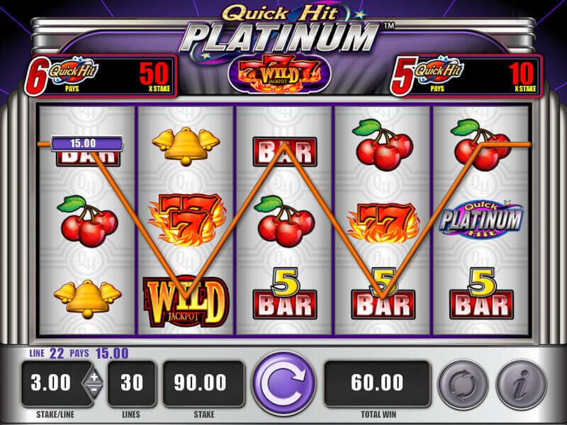 Características de las máquinas tragamonedas Casino Quick Hit